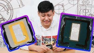 """【翼王】价值4000元的钎焊CPU开盖,i9-9900K""""拆解评测"""""""