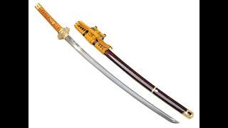mqdefault - 模造刀(美術刀)三日月宗近(みかづきむねちか)太刀拵