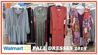 #WALMART FALL FASHION 2019 | DRESSES AND JUMPSUITS | Shop With Me