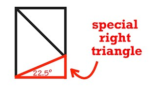 22.5-67.5-90 Special Special Right Triangle