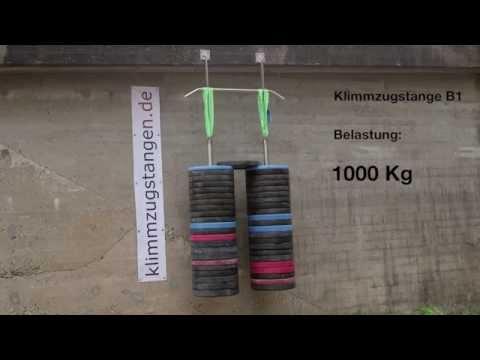 Klimmzugstange Test: 1.000 kg - Klimmzugstangen für Decke, Wand, Balken