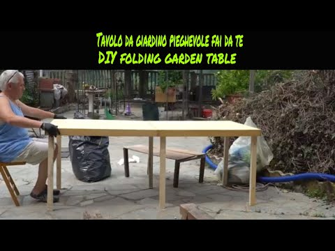 Tutorial costruire un tavolo da giardino pieghevole fai da te(How to build diy folding garden table)