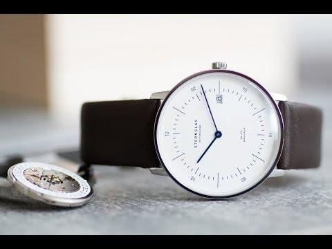 Sternglas Bauhaus Uhren aus Hamburg - Minimalistische Herrenuhren mit kratzfestem Saphirglas