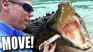 ALMOST EATEN BY A HUGE CROCODILE!!! | BRIAN BARCZYK