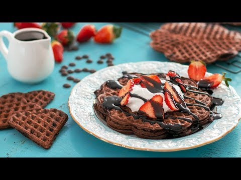 Double Chocolate Waffles