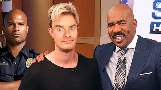 SNEAKING ONTO THE STEVE HARVEY SHOW!!! (THEY CALLED SECURITY)