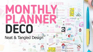 Neat And Tangled: Monthly Planner Decoration Using Blog Planner Stamps