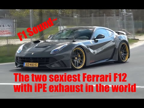 The two sexiest Ferrari F12 /w iPE exhaust in the world