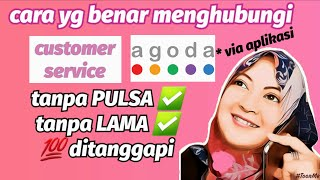cara menghubungi customer service agoda | lewat aplikasi | how to contact Agoda's customer service