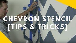 Chevron Stencil Tips And Tricks