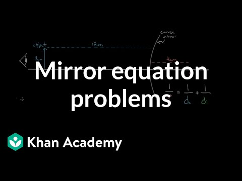 Mirror equation example problems (video) | Khan Academy