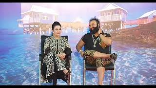 Baba ram rahim with his alleged daughter -  best funny video