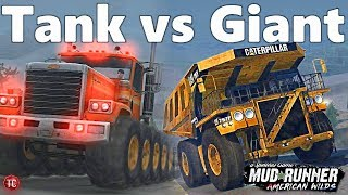 SpinTires MudRunner: TANK TRUCKS vs GIANT DUMP TRUCK
