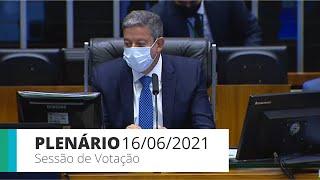 PLENÁRIO - Sessão para a votação de propostas legislativas - 16/06/2021 13:55