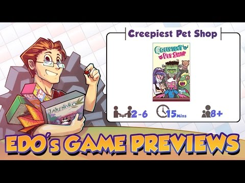 Edo's Creepiest Pet Shop Card Game Review (KS Preview)