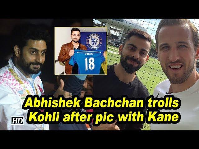 Abhishek Bachchan trolls Kohli after pic with Kane