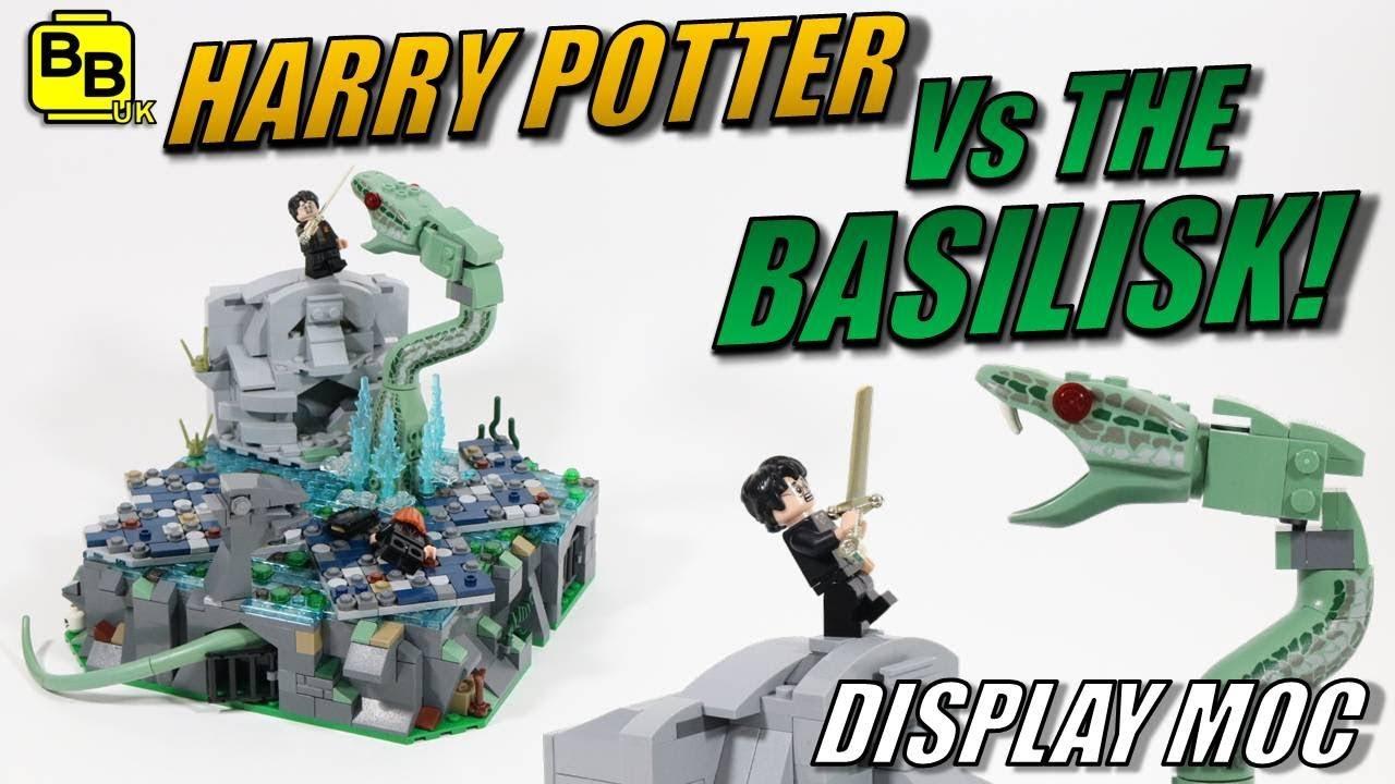 LEGO HARRY POTTER VS THE BASILISK DISPLAY MOC!