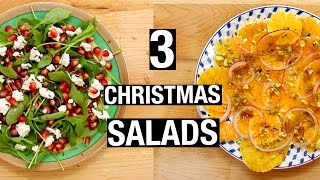 3 Christmas SALADS | Last-Minute Christmas Recipes