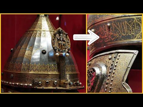 Суры из Корана на шлемах Русских воинов.