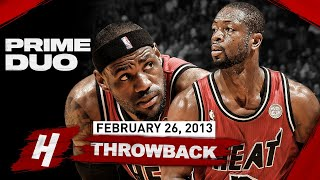 The Game PRIME Duo LeBron & Dwyane Wade SCORED 79 Points! EPIC Highlights vs Kings | Feb 26, 2013