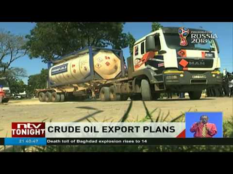 Truck ferrying crude from Lokichar, Turkana arrive in Changamwe