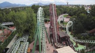 Magic Mountain Front Seat On-ride HD POV Gardaland, Italy