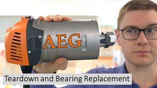 Repairing my favourite Router - AEG MF 1400 KE / Ridgid R2930 - Teardown and Bearing Replacement