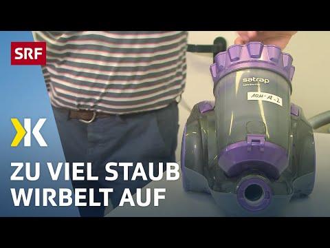 Beutellose Staubsauger im Test: Vorsicht für Allergiker  | 2018 | SRF Kassensturz