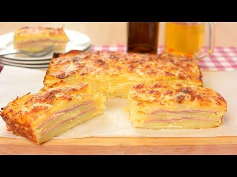 Pastel de Patata con Jamón y Queso | Muy Fácil de Hacer ¡TE SORPRENDERÁ!