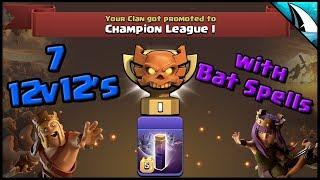 *BAT SPELLS vs TH12* Recap of All 12v12 Bat Spell Triples in CWL | Clash of Clans