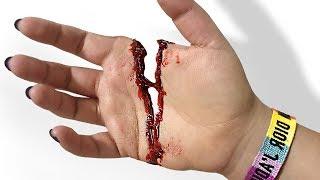 I SLICED MY HAND OFF!!! - Diy HALLOWEEN Pranks