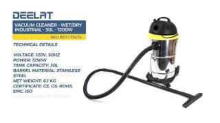 Vacuum Cleaner - Wet/Dry Industrial - 30L - 1200W