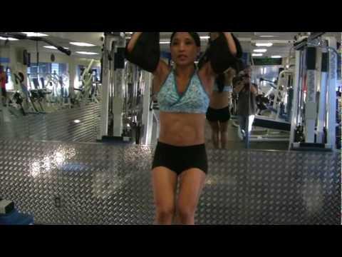 Core Exercise - Hanging Leg Raise w/ straps w/ Kat Painter (FitnessX.com)
