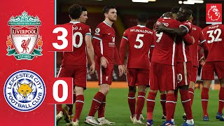 Highlights: Liverpool 3-0 Leicester   Jota & Firmino score for record-breaking Reds