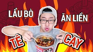 """FIRST TIME EATING """"TONGUE_BURNED"""" """"INSTANT HOTPOT""""// EATING THE WHOLE WORLD #06"""