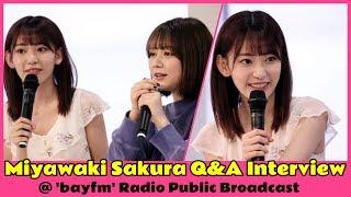 MiyawakiSakuraQ&AInterview@bayfmRadioPublicBroadcast