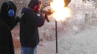 Fully Automatic AK47 Machine Gun Shooting