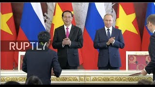 LIVE: Putin and Vietnamese President Tran Dai Quang deliver joint press statement