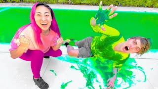 I TURNED CARTER'S POOL INTO SLIME!!