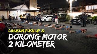 Peserta Balap Liar di Kartasura Sukoharjo Dihukum Push Up, Pulang Pun Harus Dorong Motor 2 Kilometer