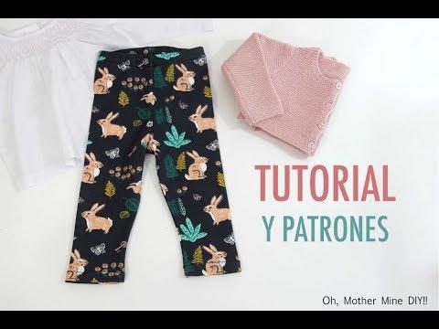 DIY Costura: Cómo hacer leggins de niñas (patrones gratis)
