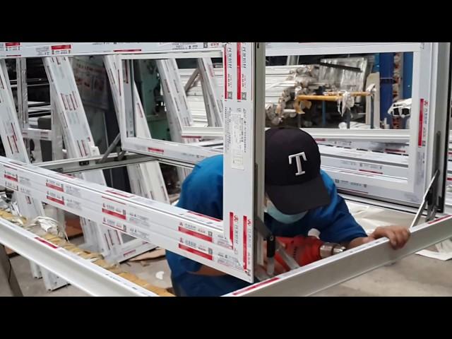 Hướng dẫn lắp phụ kiện cửa sổ hệ 55 nhôm Xingfa