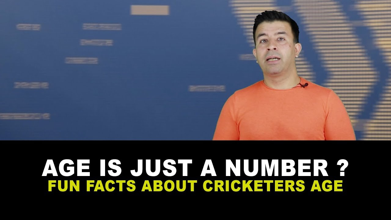 Age is just a number ? | Fun facts about Cricketers Age