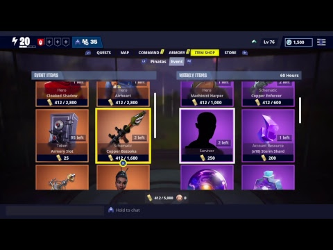 Weekly item shop reset Fortnite Save the world 9-12-18