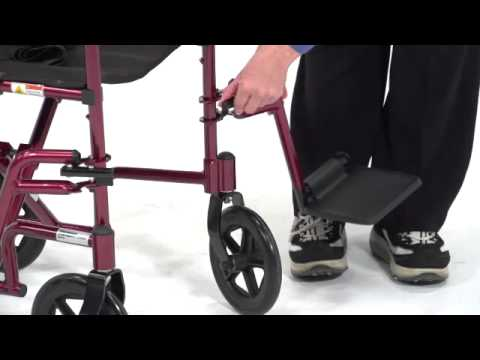 Image of Drive Medical - Aluminum Transport Chair video