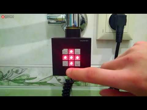 Terma KTX 2. Черный ТЭН для полотенцесушителя с таймером