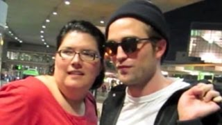 Robert Pattinson Getting Cozy with Fans