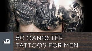 50 Ganster Tattoos For Men - Mobster Ink