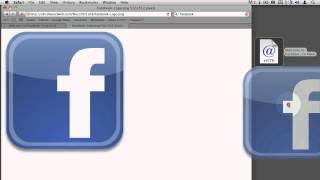 Mac OS X - Making Facebook.com shortcut on Desktop