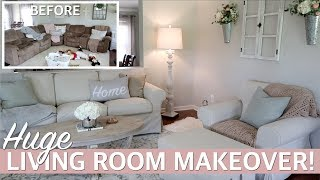 LIVING ROOM MAKEOVER 2019 W/ Living Room Decorating Ideas! Ft. IKEA #Sponsored | Lauren Midgley